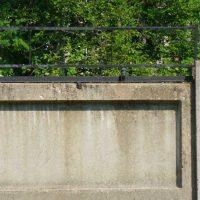 Вариант монтажа ЧЭ СО на железо-бетонном заграждении с помощью переходников Д9-Р116-01.